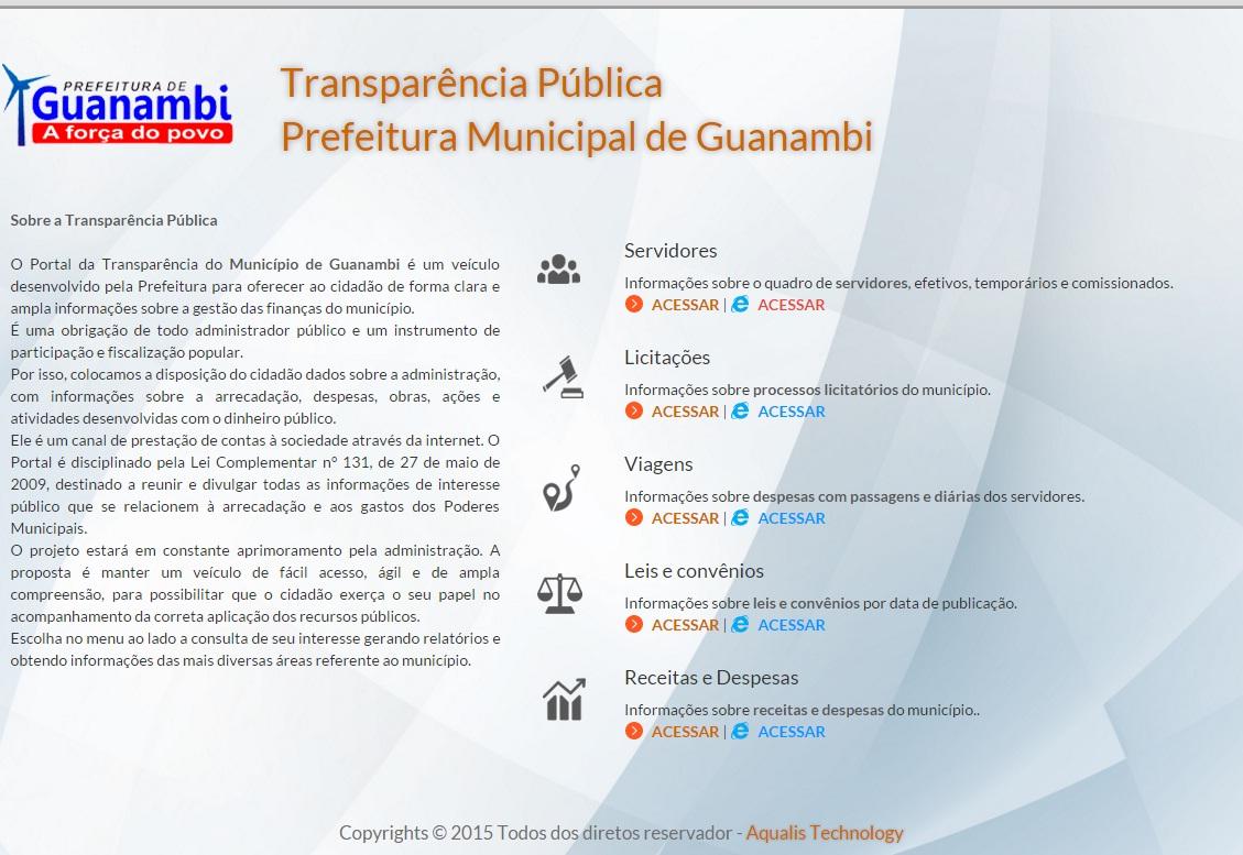ESCLARECIMENTO SOBRE LEVANTAMENTO DA CGU SOBRE A LEI DE ACESSO À INFORMAÇÃO  (LAI) E TRANSPARÊNCIA MUNICIPAL - Notícias - Prefeitura de Guanambi - Site  ... 6e9ef21c5a9f9
